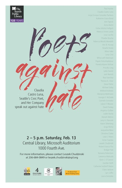 Poets Against Hate poster